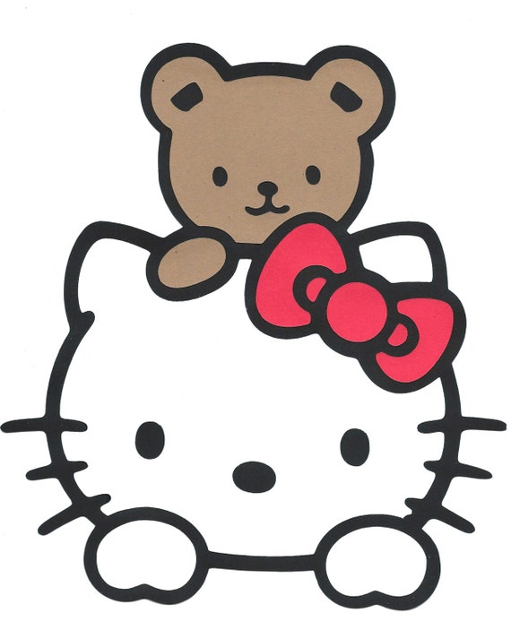 Large hello kitty template pictures to pin on pinterest for Hello kitty cut out template