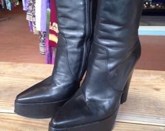 Groovy Black Leather Stacks!!