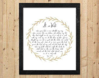 It is Well with my Soul Printable Gold Wall Art / Christian Printable Hymn Lyrics / It is Well Print / Downloadable Prints / Christian Gift