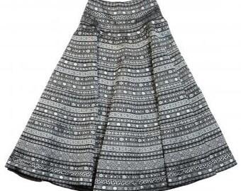 full circle ribbon skirt 95 cm long, size M (10-12 UK)