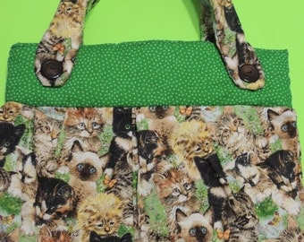 Handmade Purse with Cats