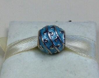 Authentic Pandora Silver Light Blue Vines Charm #790525EN18