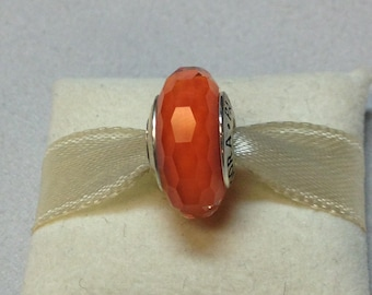 Authentic Pandora Silver Fascinating Orange Charm #791626