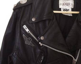 PARASUCO genuine LEATHER stunning MOTORCYCLE jacket coat