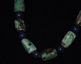 Tibetan Turquoise wth Black Stone
