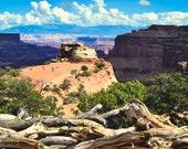 National Park, Nature Photography, Desert Landscape, Canyonlands, Utah, Photographic Print, Scenic, Explore, Gift, Orange, Blue, Wall Art