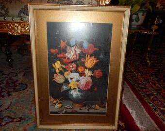 BALTHAZAR VAN DER Ast Bouquet of Flowers Vintage Print