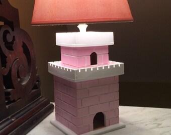 Pink Castle Lamp