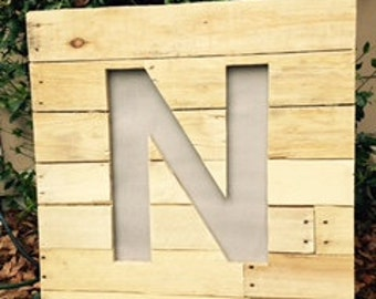 Rustic Lighted Letter Sign