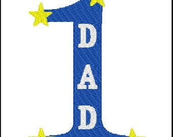 Dad Father's Day Embroidery Design