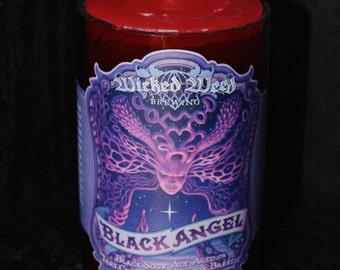 Wicked Weed Black Angel Beer Bottle Candle