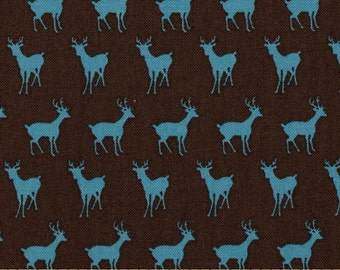 Moda Oh Deer by MoMo Tiny Deer Fabric in Leaf Bright Sky or Bark Colour Ways Rare Stag Fabric per Fat Quarter FQ