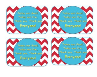 Dr. Seuss Red Printable Thank You Label or Tag Instant Download