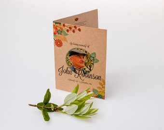 Custom Made Memorial Cards (A5 Booklet)
