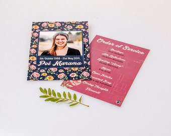 Made-to-order Printed Funeral Programs (A5 Double-Sided Single Sheet)