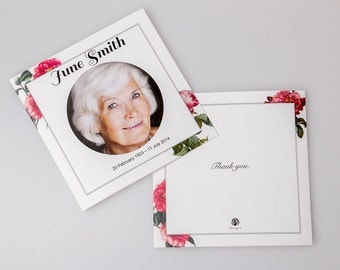 Custom Memorial Cards (Square Booklet Design)