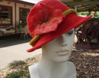 handmade felted merino hat