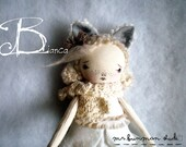 BIANCA  the white fox ~ Evergreen Scented - Endangered species Series No.1 OOAK artdoll Handmade Rag Doll
