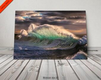 Beach Decor,Wall Art,Nautical Art,Scenic Photo,Beach Photography,Beach,Beach Wall Art,Decor for Office,Metal Photo,Sea Art,Aqua,Green,Teal