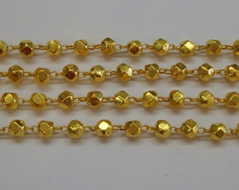 20k gold beads chain necklace gold jewelry from rajasthan india