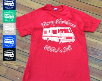 Funny Christmas Vacation T-Shirt | Sh*tters Full Shirt | Holiday Movie Apparel