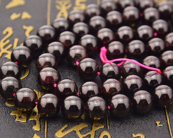 15.5inch Natural Deep Red Garnet Gemstone Round Beads 10mm 8mm 6mm