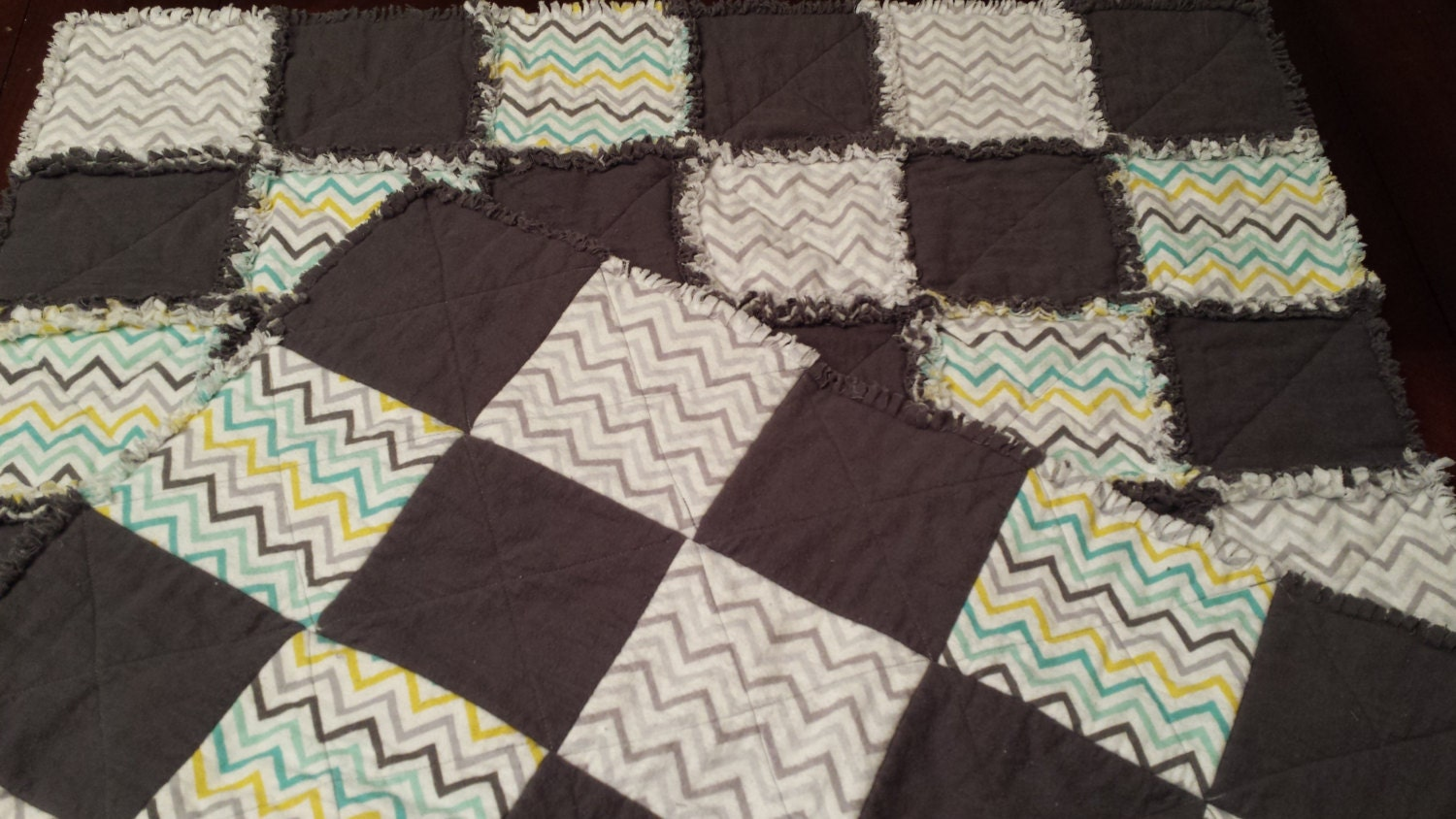 Homemade baby rag quilt baby quilts for sale homemade for Quilts for sale