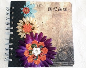 Personalised Flower and Decoupage Journal