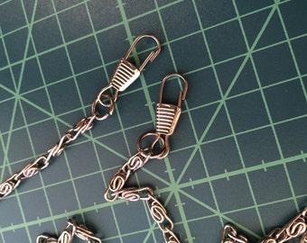 """Silver shoulder chain - 34.5""""/120cm long"""