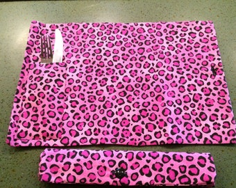 Cheetah Portable Placemat - For On the Go Eating!