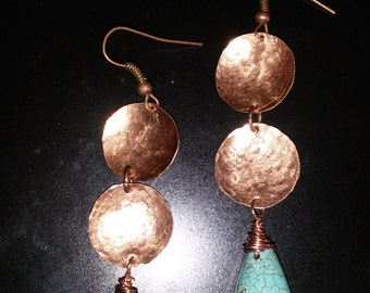 Orecchini Bolle Africane/Earrings copper African Bubble