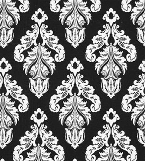 Retro Damask Black White Lampshade By Cherryhillshades On Etsy