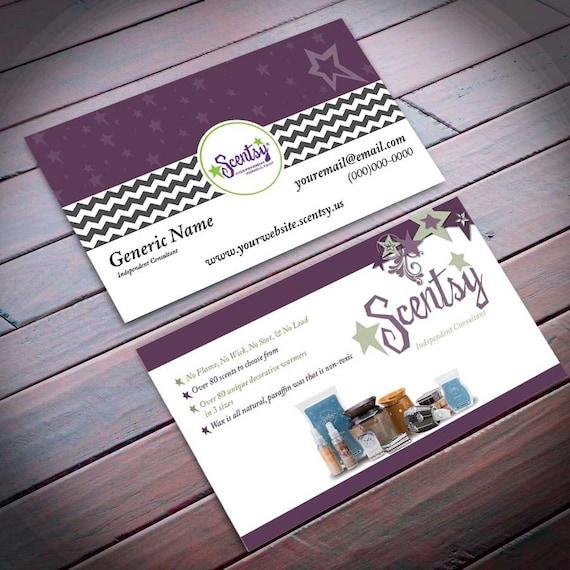 Scentsy Business Card Stars sku1002 by DirectsalesxByxMoJo