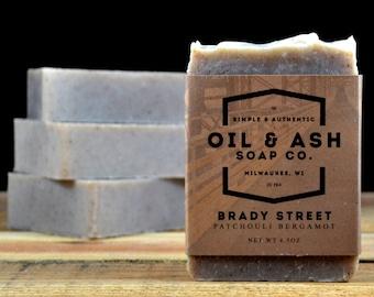 Patchouli Bergamot Soap, Exfoliant Soap, Handmade Soap, All Natural Soap, Cold Process Soap, Essential Oil Soap