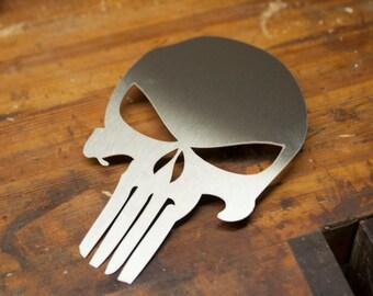 Stainless Steel Punisher Skull Plaque