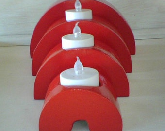 Curved Tealight Holders (Set of 4)