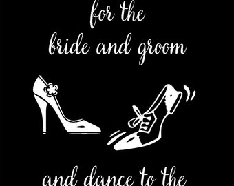 5 Wedding Event Designs on Canvas Board in 2 sizes - Gift Cards or Guest Book, Instagram Photos, Serving Cake, Time to Dance, Take a Sweet