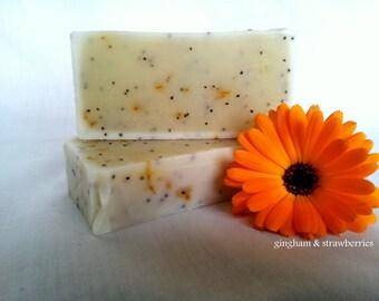 Handmade Orange & Poppyseed Soap - VEGAN SOAP