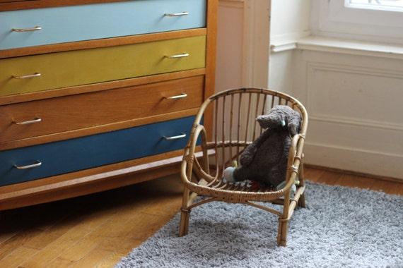 Fauteuil rotin enfant petit si ge pour enfant en osier petit for Petit fauteuil pour chambre