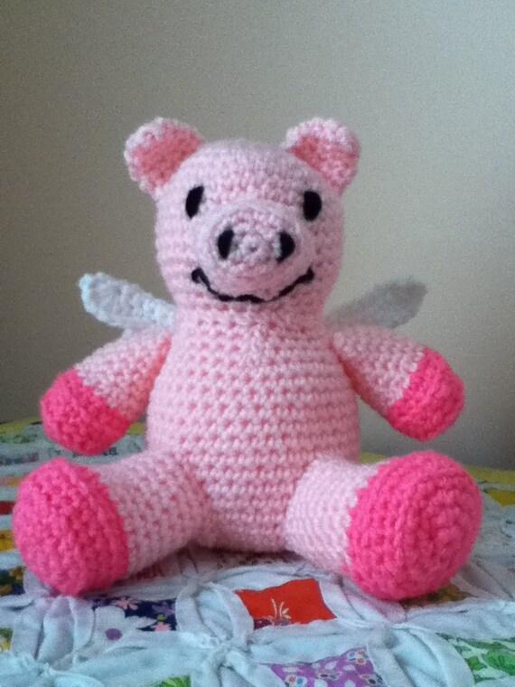 Amigurumi Wings : Crochet Amigurumi Pig wtih Wings Doll