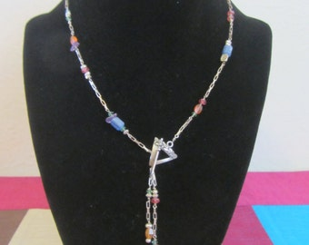 No. 12 Toggle Center Piece and Multi Stone Necklace