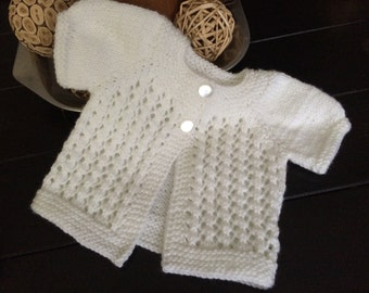 Baby Lacy Short Sleeve Sweater/ Baby Cardigan