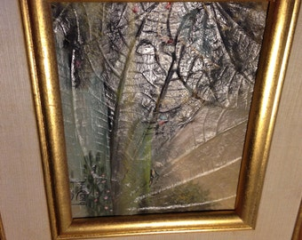 Vintage signed Narong Leaf painting