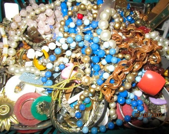 Pound of junk costume jewelry tangled mess beads bracelets earrings