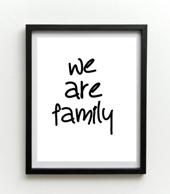 Printable wall art we are family wall decor by wordsmithprints for Family wall art