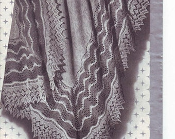 Vintage baby shetland shawl Pattern  PDF