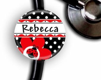 Ladybug Personalized Stethoscope ID Tag
