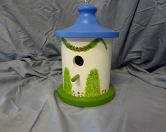 Bird House - Hand Painted
