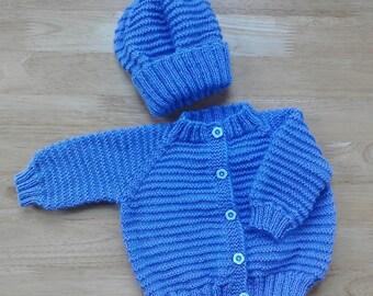 baby cardigan and hat/newborn cardigan/preemie cardigan