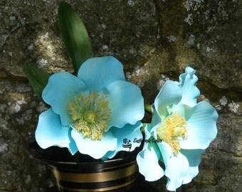 Sugar gum paste Blue Himalayan Poppy